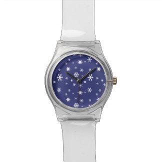 Reloj De Pulsera Copos de nieve País de las maravillas-Blancos del