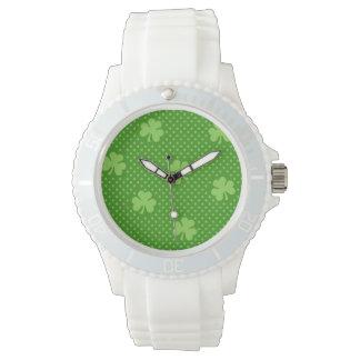 Reloj De Pulsera Día verde de Patricks del santo del modelo del
