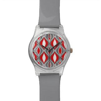 Reloj De Pulsera Diamantes de los mediados de siglo, gris