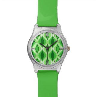 Reloj De Pulsera Diamantes, esmeralda y verde lima modernos de los