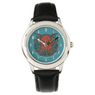 Reloj De Pulsera Dibujo animado rojo feroz de los tentáculos del