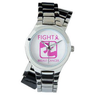 Reloj De Pulsera Doblar los brazos para luchar el cáncer de pecho