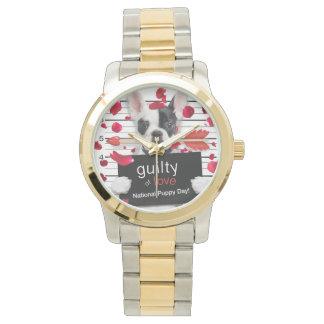 Reloj De Pulsera Dogo francés del el día de San Valentín