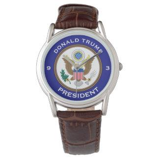 "Reloj De Pulsera ""Donald Trump,"" ""presidente"" y sello de POTUS"