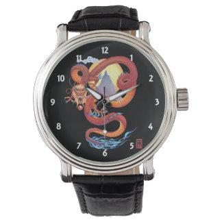 Reloj De Pulsera Dragón rojo chino