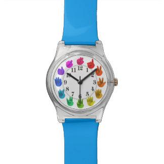 Reloj De Pulsera El arco iris da números del asl