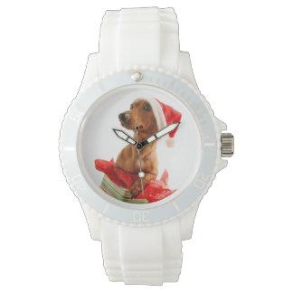 Reloj De Pulsera El Dachshund santa - el perro de santa - persiguen