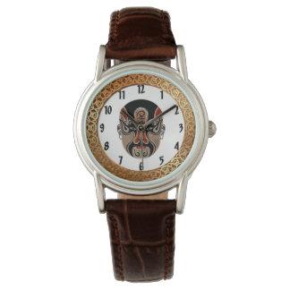 Reloj De Pulsera El Facial de la ópera de Pekín enmascara design3