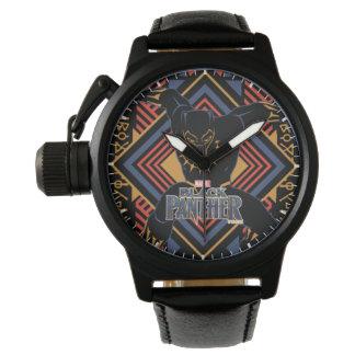 Reloj De Pulsera El panel de la pantera negra de la pantera negra