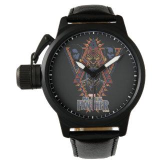 Reloj De Pulsera El panel tribal de los guerreros de la pantera