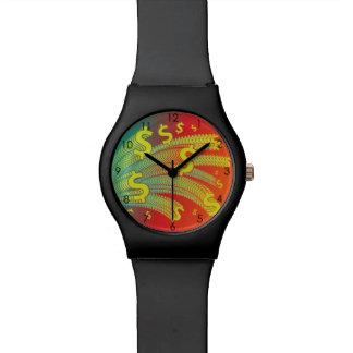 Reloj De Pulsera El tiempo es oro símbolo del dólar