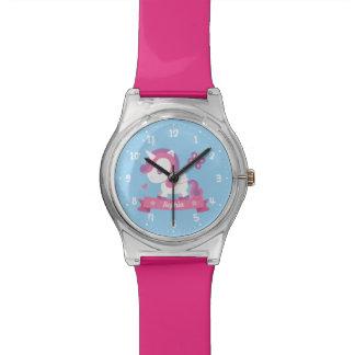 Reloj De Pulsera El unicornio lindo con los niños de las alas