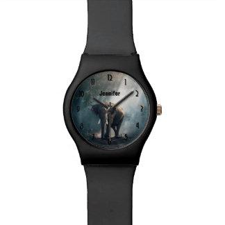 Reloj De Pulsera Elefante asiático en un claro Sunlit del bosque