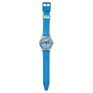Reloj De Pulsera Elefante de la alheña (azul/azul claro)