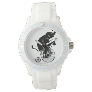 Reloj De Pulsera Elefante que monta una bici
