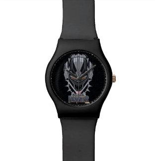 Reloj De Pulsera Emblema de la cabeza de la pantera negra de la
