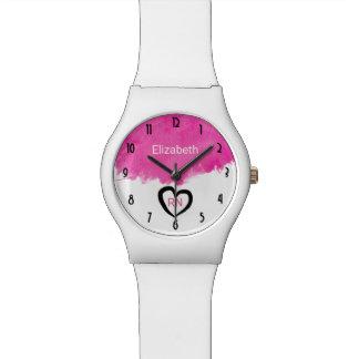 Reloj De Pulsera Enfermera rosada del RN de la salpicadura de la