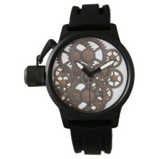 Reloj De Pulsera Engranajes oxidados del metal de Steampunk