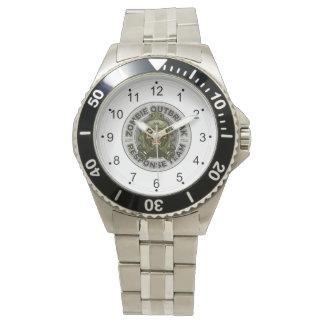 Reloj De Pulsera Equipo de la respuesta del brote del zombi