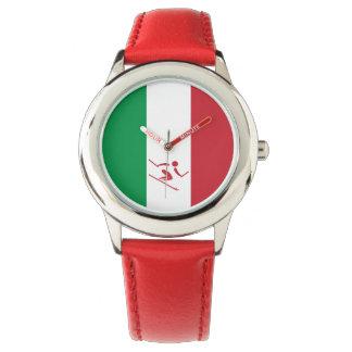 Reloj De Pulsera Esquí alpino Italia del equipo
