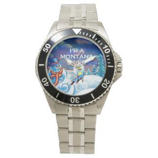 Reloj De Pulsera Esquiador SUPERIOR de Montana