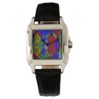 Reloj De Pulsera Extracto colorido retro del diamante