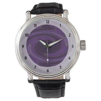 Reloj De Pulsera extracto negro púrpura oscuro del giro
