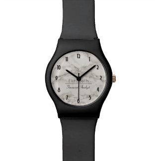 Reloj De Pulsera Falso moderno de mármol del alabastro