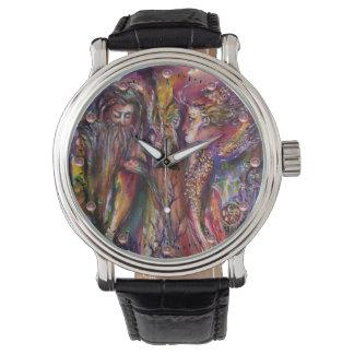 Reloj De Pulsera Fantasía púrpura rosada de VIVIEN Y de MERLIN