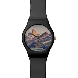Reloj De Pulsera Fitz Roy y montañas de Poincenot los Andes -