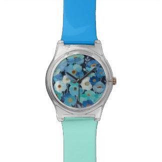 Reloj De Pulsera Flores del añil
