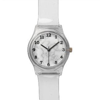 Reloj De Pulsera Fondo veteado del modelo de la piedra del mármol