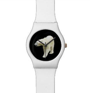 Reloj De Pulsera Foto del oso polar en negro