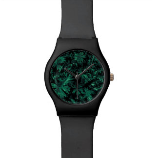 Reloj De Pulsera Foto oscura de la flora