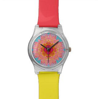 Reloj De Pulsera Fractal de la flor de la dalia