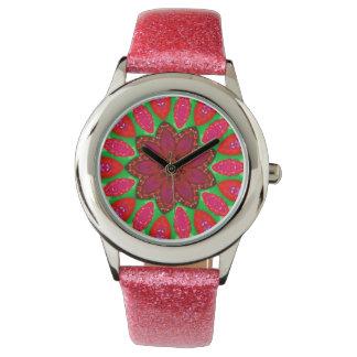 Reloj De Pulsera Fractal del atasco de frambuesa