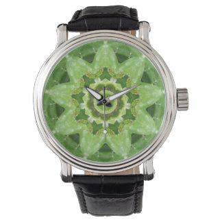 Reloj De Pulsera Fractal suculento de la estrella del cactus