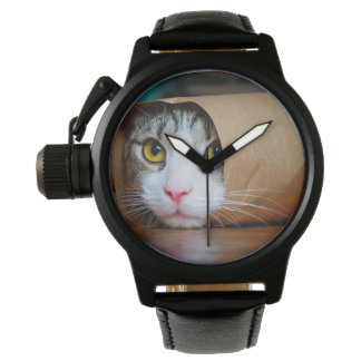 Reloj De Pulsera Gato de papel - gatos divertidos - meme del gato -