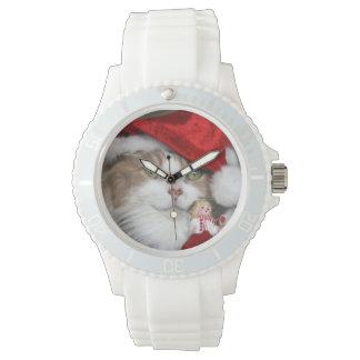 Reloj De Pulsera Gato de Santa - gato del navidad - gatitos lindos