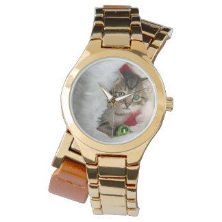 Reloj De Pulsera Gato del navidad - gato del gatito - gatos lindos