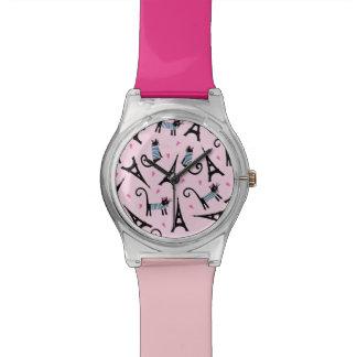 Reloj De Pulsera Gato vestido estilo francés con el modelo de la