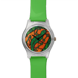 Reloj De Pulsera Gecko verde