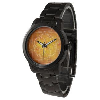 Reloj De Pulsera Geometría SAGRADA del | - semilla del yantra de la