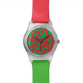 Reloj De Pulsera Gota y Squiggle locos del navidad