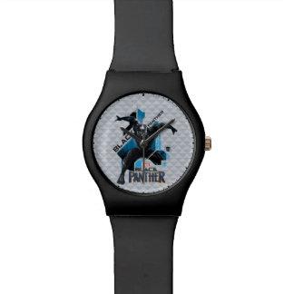 Reloj De Pulsera Gráfico de alta tecnología negro del carácter de