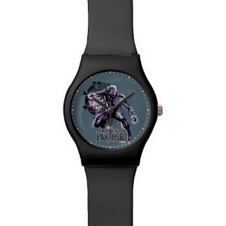 Reloj De Pulsera Graphic del guerrero de la pantera negra el | de
