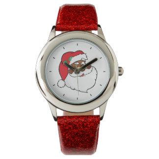 Reloj De Pulsera Guiño de Santa negro que guarda secretos del