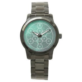 Reloj De Pulsera Hexágono y círculos SAGRADOS de la geometría del |