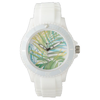 Reloj De Pulsera Hojas de palma tropicales