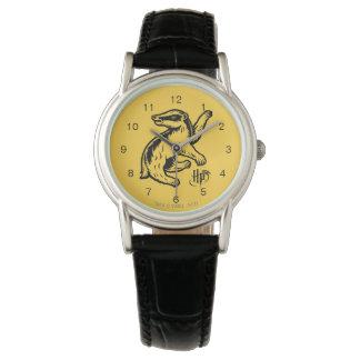 Reloj De Pulsera Icono del tejón de Harry Potter el   Hufflepuff